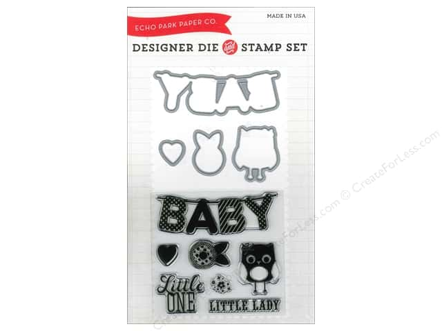 Echo Park Bundle of Joy Girl Collection Die/Stamp Little One