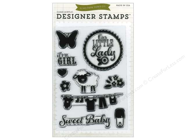 Echo Park Designer Stamp Bundle of Joy Girl Collection It's A Girl
