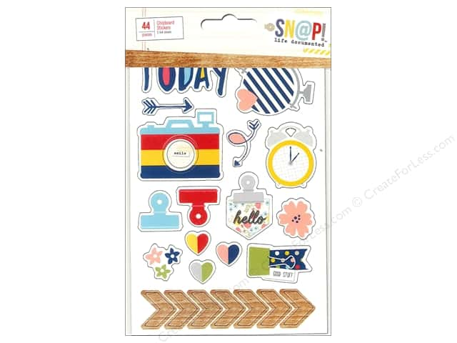Simple Stories Sn@p! Stickers 44 pc. Life Documented Chipboard