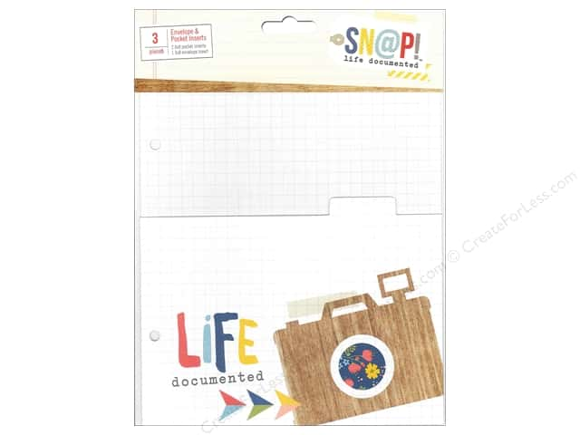 Simple Stories Sn@p! Life Documented Envelope & Pocket Inserts
