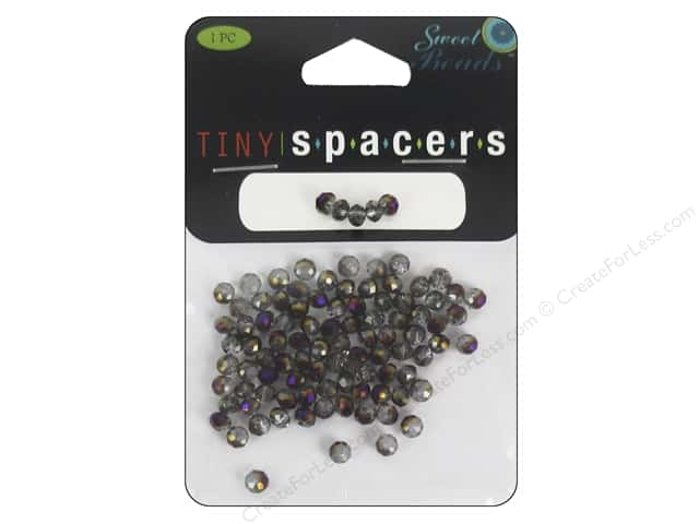 Sweet Beads EWC Tiny Spacers Collection Glass Rondelle 3x5mm Purple 95pc