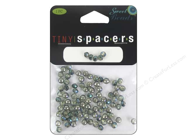 Sweet Beads EWC Tiny Spacers Collection Glass Rondelle 3x5mm Green 95pc