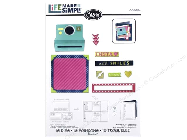 Sizzix Thinlits Die Set 16 pc. Instant Camera Card