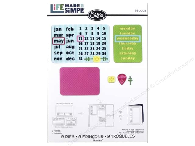 Sizzix Thinlits Die Set 9 pc. Calendar