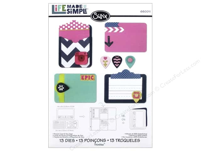 Sizzix Thinlits Die Set 13 pc. Pocket Card & Geo Tags