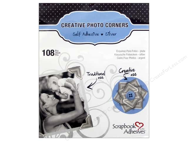 3L Scrapbook Adhesives Photo Corners Paper 126 pc. Silver