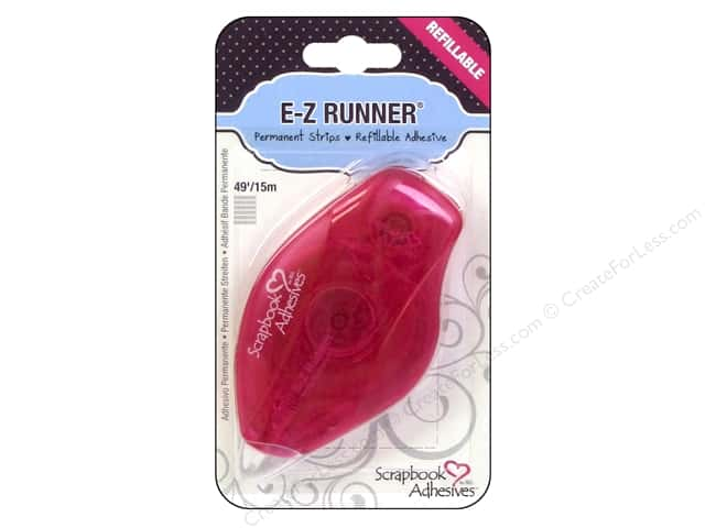 3L Scrapbook Adhesives E-Z Runner 49 ft. Permanent Strips Refillable