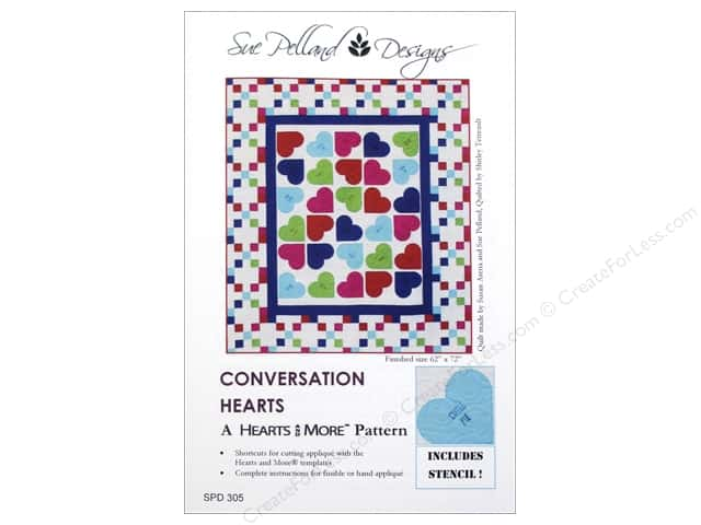 Sue Pelland Designs Hearts And More Conversation Hearts Pattern
