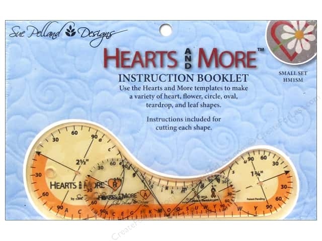 Sue Pelland Designs Template Hearts and More Small Set