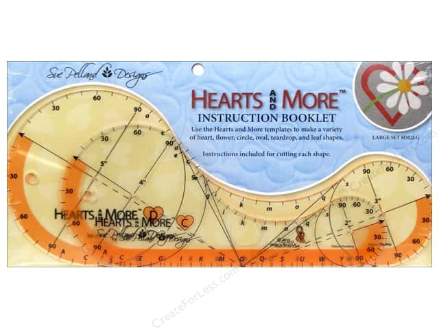 Sue Pelland Designs Template Hearts and More Large Set