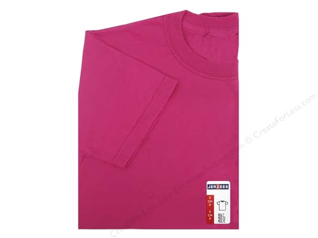 Jerzees T Shirt Adult Small Cyber Pink