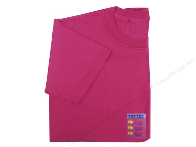 Jerzees T Shirt Youth Large Cyber Pink