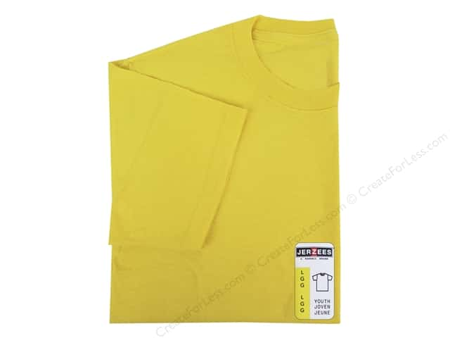 Jerzees T Shirt Youth Large Island Yellow