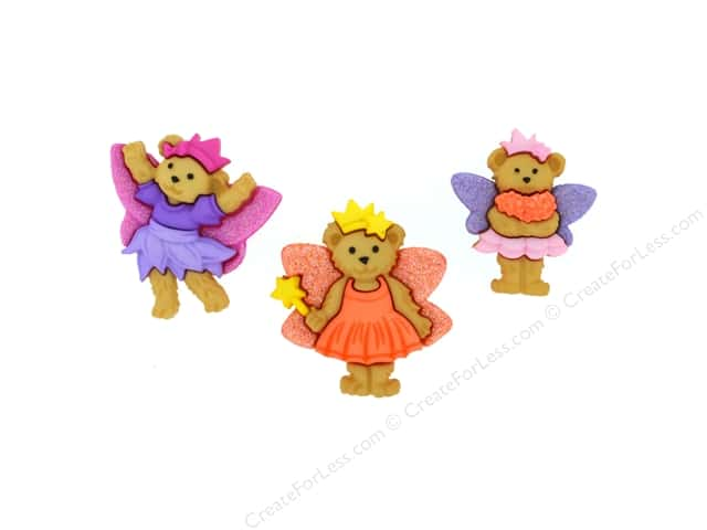 Jesse James Dress It Up Embellishments Fairy Bears
