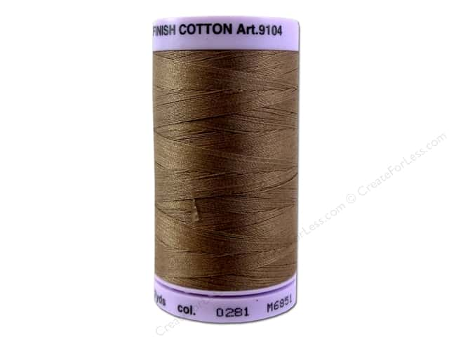 Mettler Silk Finish Cotton Thread 50 wt. 547 yd. #0281 Hazelnut