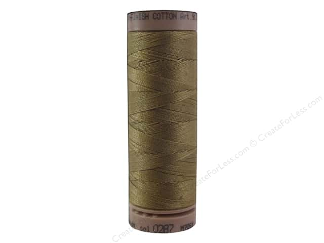 Mettler Silk Finish Cotton Thread 40 wt. 164 yd. #0287 Dark Tan