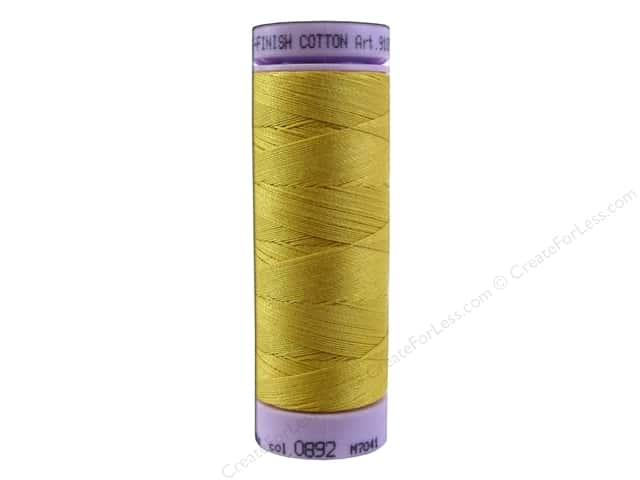 Mettler Silk Finish Cotton Thread 50 wt. 164 yd. #0892 Star Gold