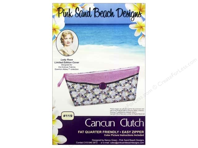 Pink Sand Beach Designs Downton Abbey Cancun Clutch Pattern