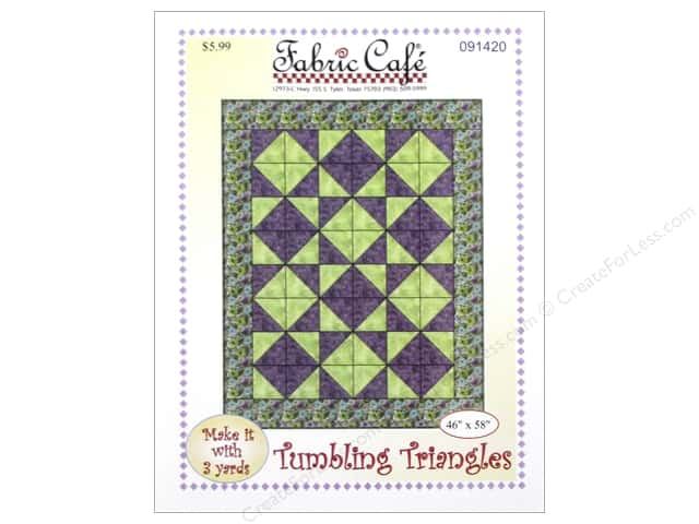 Fabric Cafe Tumbling Triangles 3 Yard Quilt Pattern