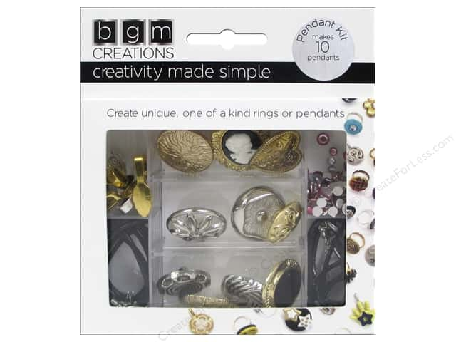 Buttons Galore BGM Creations Vintage Pendant Kit