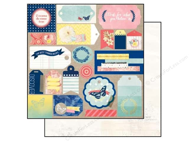 Bo Bunny 12 x 12 in. Paper Sweet Life Flutter (25 sheets)