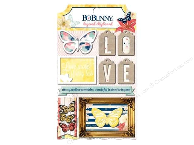Bo Bunny Layered Chipboard Stickers Sweet Life