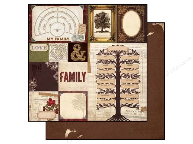 Bo Bunny 12 x 12 in. Paper Heritage Roots (25 sheets)