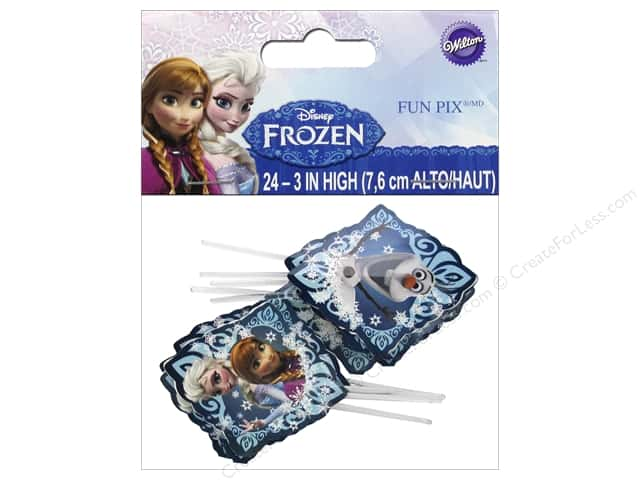 Wilton Decorations Disney Frozen Fun Picks 24pc