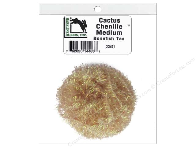 Hareline Dubbin Cactus Chenille Medium Bonefish Tan