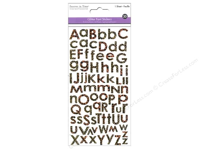 Multicraft Sticker Alphabet Glitter Cheetah