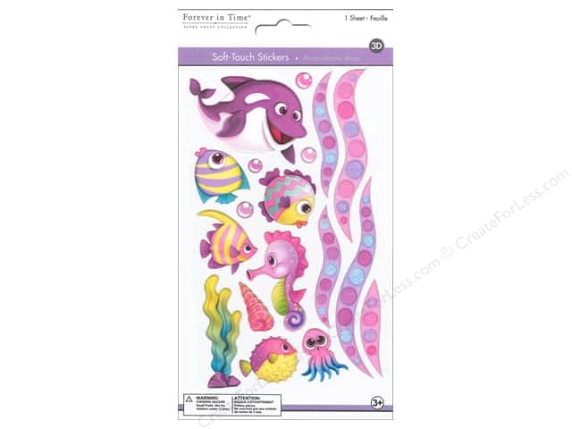 Multicraft Sticker 3D Soft Touch Sea Pals 1