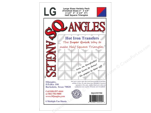 SQangles Iron On Transfer Half Square Triangle Variety Pack Large
