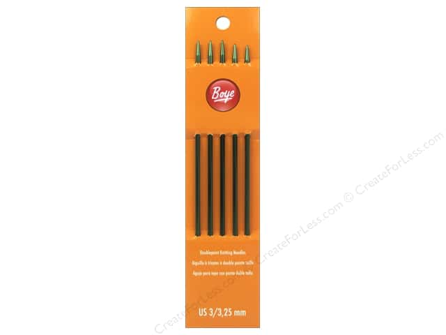 Boye Double Point Knitting Needles Aluminum 7 in. Size 3 (3.25 mm)