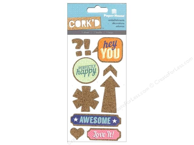 Paper House Sticker Cork Hey You