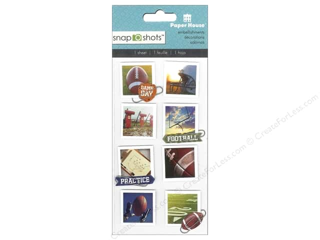 Paper House Sticker Snap Shots Football