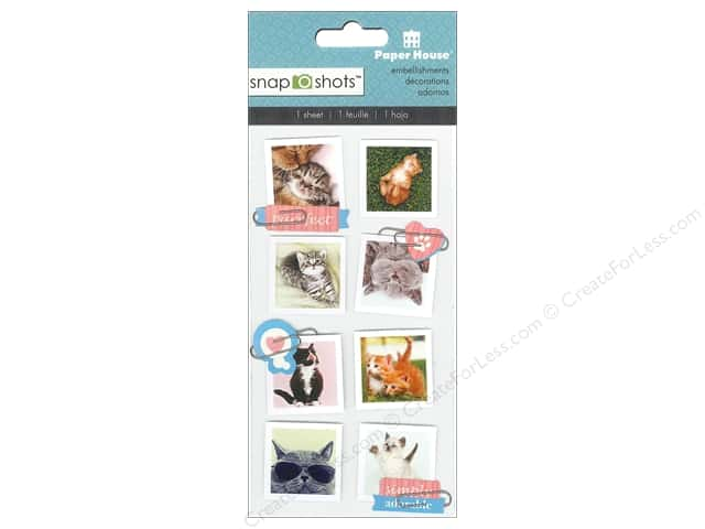 Paper House Sticker Snap Shots Cats