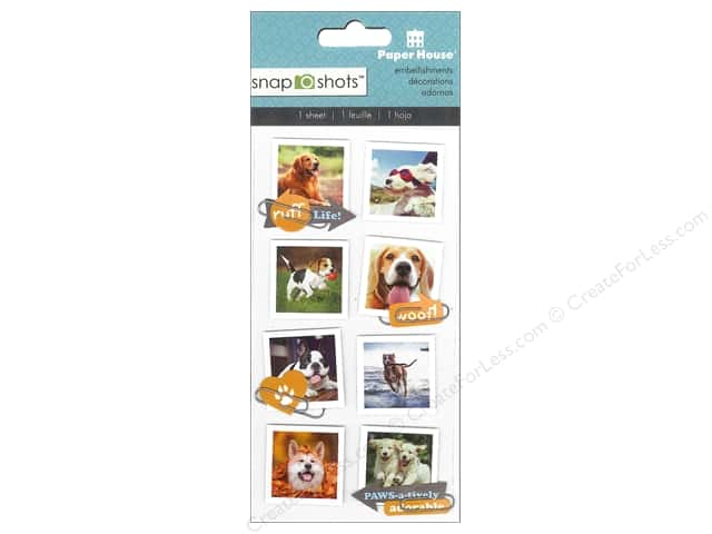 Paper House Sticker Snap Shots Dogs