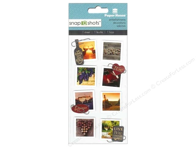Paper House Sticker Snap Shots Wine