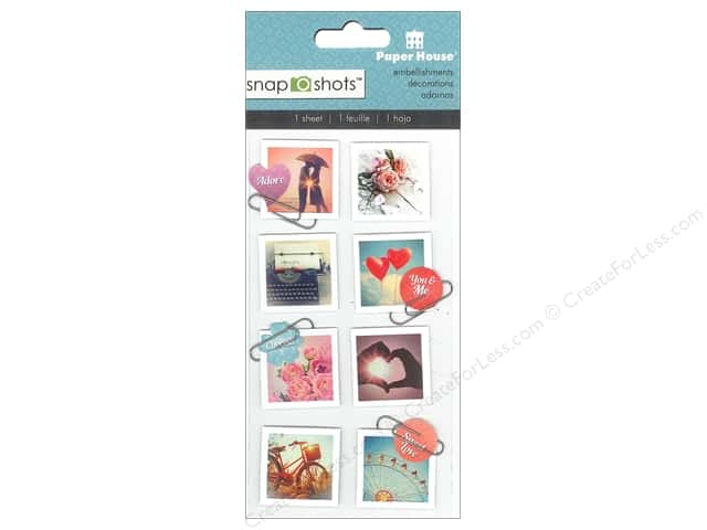 Paper House Sticker Snap Shots Vintage Romance