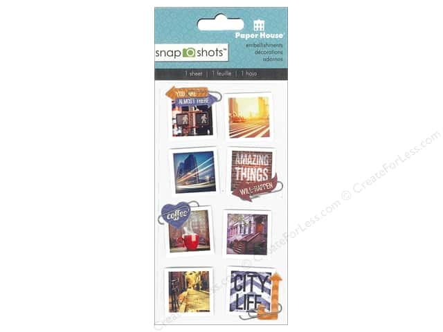 Paper House Sticker Snap Shots Urban