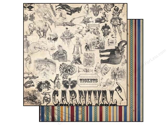Bo Bunny 12 x 12 in. Paper Carnival Collection Sideshow (25 sheets)