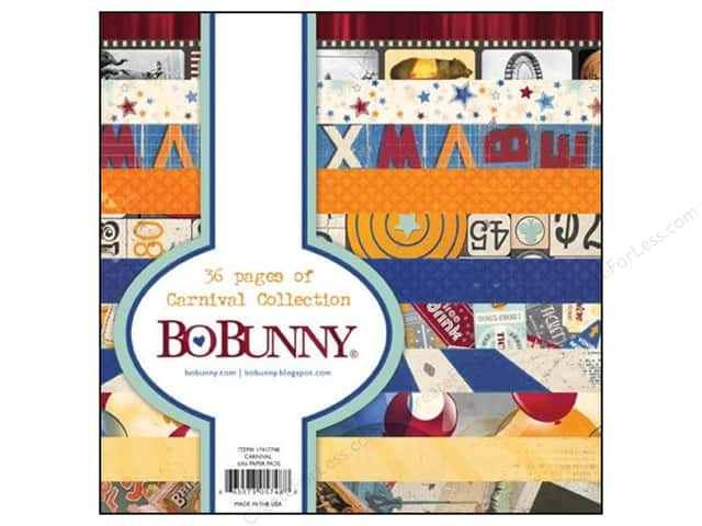 Bo Bunny 6 x 6 in. Paper Pad Carnival Collection