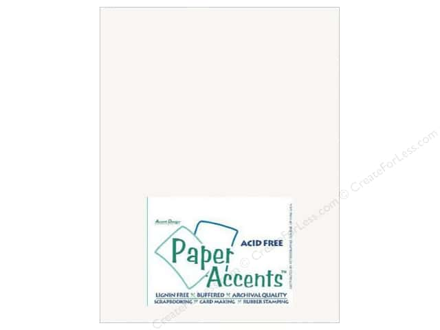 Cardstock 8 1/2 x 11 in. #401 Linen Bright White by Paper Accents (25 sheets)