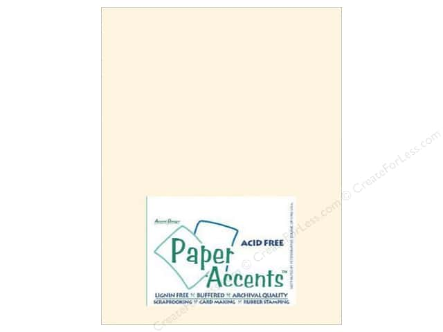 Paper Accents Cardstock 8 1/2 x 11 in. #119 Smooth Cream 100 pc.