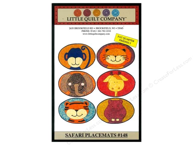 Little Quilt Company Safari Placemats Pattern