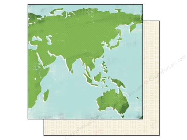 Carta Bella 12 x 12 in. Paper Travel Stories World Map (25 sheets)