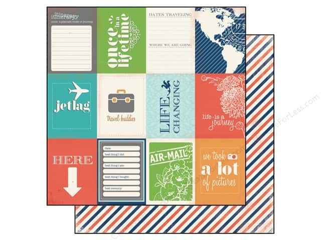 Carta Bella 12 x 12 in. Paper Travel Stories Excursion (25 sheets)