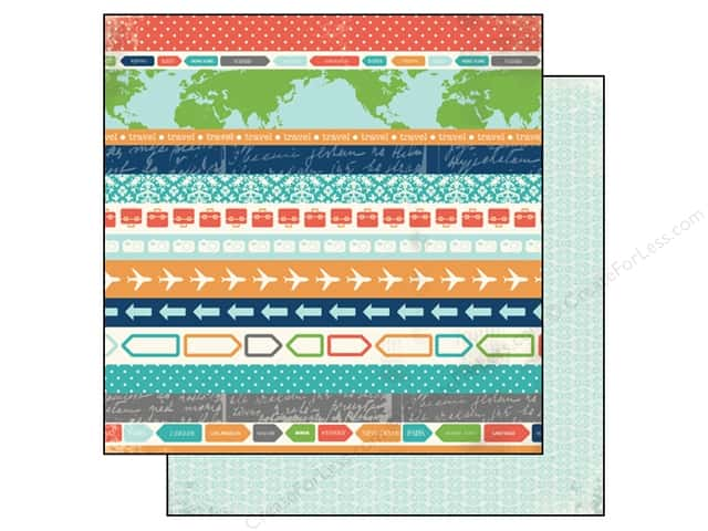 Carta Bella 12 x 12 in. Paper Travel Stories Voyage (25 sheets)