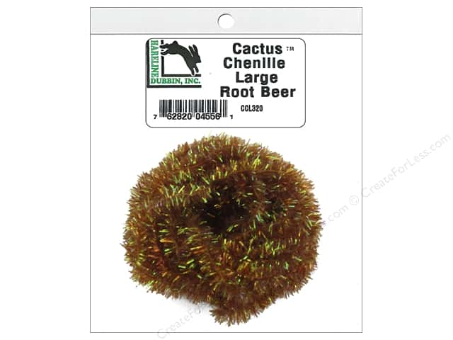 Hareline Dubbin Cactus Chenille Large Root Beer