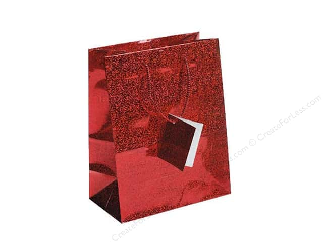 Darice Gift Bag 7 x 9 in. Hologram Red